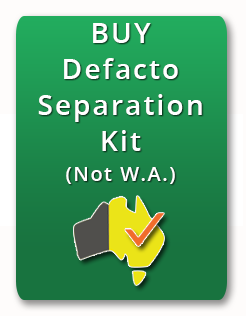 Defacto separation  not WA