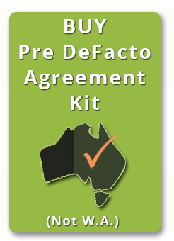 Buy pre defacto agreement not WA